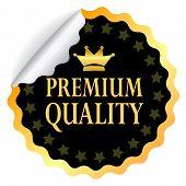 Adesivo de qualidade premium vector