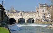 image of avon  - The Famous Pultney Bridge on the River Avon in Bath England - JPG