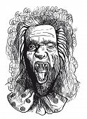 foto of dread head  - An hand drawn illustration - JPG