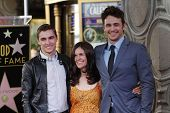 LOS ANGELES - MAR 7: Dave Franco, James Franco, Betsy Franco at a ceremony as James Franco is honored with a star on the Hollywood Walk of Fame on March 7, 2013 in Los Angeles, California