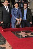 LOS ANGELES - 7 de MAR: Sam Raimi, James Franco, Seth Rogen en una ceremonia como James Franco es honrado wi