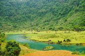 Phong Nha-K? B�?� ng National Park, Vietnam- mountain landscape with river