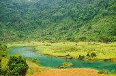 Phong Nha-K? B�?�ng National Park, Vietnam- mountain landscape with river