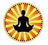 Yoga Lotus-Haltung
