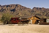 stock photo of stagecoach  - This is a picture of an old western stagecoach outside of Tucson - JPG