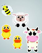 Farm Animal Sticker Set