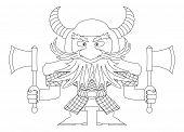 Dwarf warrior, contour