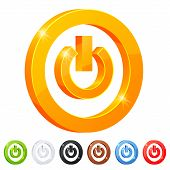 Set of 7 power button symbol