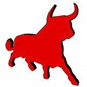 Rote Toro mit schwarz