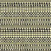 Geometrical Black And White Ethnic Pattern
