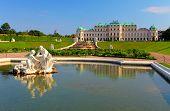 Belvedere Palast In Wien - Österreich