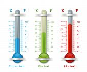 Thermometer Blue Red Green
