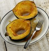 Acorn Squash Cooked With Brown Sugar And Butter