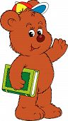Funny Bear Holding The Green Book