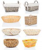 Set Of Wooden Baskets