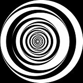 Black And White Spiral Background