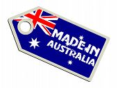 label with flag of Australia