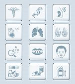 Medical symbols, specialties, human organs and health-care objects