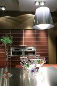 Glass Vase On The Modern Kitchen