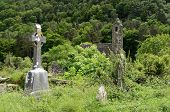 Celtic Cross At A Graveyard