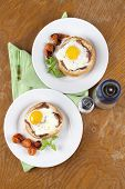 Baked Eggs And Bacon