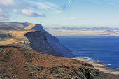 Coast Risco De Famara,  Lanzarote, Canary Islands, Spain