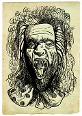stock photo of dread head  - Talking head from beyond the grave - JPG