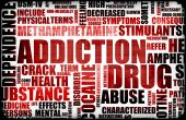 foto of crack addiction  - Red Drug Addiction Dangers Grunge Warning Concept - JPG