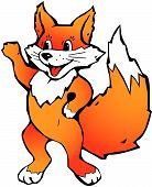 Happy Red Fox.