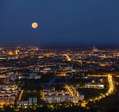 image of munich residence  - Night aerial view of Munich from Olympiaturm  - JPG