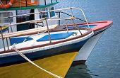 Colorful Pleasure Boats Moored In Nessebur, Bulgaria.