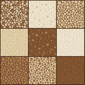 Nine Seamless Coffee Beans Patterns