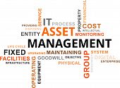 stock photo of asset  - A word cloud of asset management related items - JPG