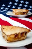 2 Pcs Of Apple Pie On The American Flag