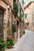 Quaint Street Of Old Stone Houses