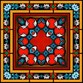 Seamless Stained Glass Patterned Window