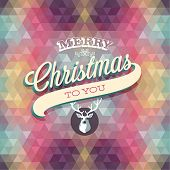 "stock photo of merry  - ""Merry Christmas"" Poster. Vector illustration. - JPG"