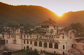 Sunset Over Town Of Bundi, India