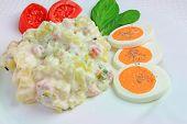 Potato Salad with Eggs, Tomatoes and Basil