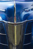 1940 Blue Ford Deluxe Car Grill