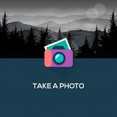 Photo camera web icon flat design