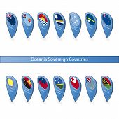 Pin Flags Of Oceania Sovereign Countries