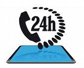 Modern icon 24h service