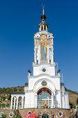 Temple-lighthouse St. Nicholas Of Myra In The Village Malorechenskoye. Crimea.
