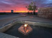 Samara, Russia - May 6: The Eternal Flame In The Memorial Complex On The Sunset On May 6, 2013 In Sa