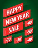 New Year sale design