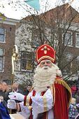 Sinterklaas Looking At The Crowd