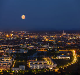 picture of munich residence  - Night aerial view of Munich from Olympiaturm  - JPG