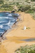 picture of gozo  - Ramla Beach the Red Sandy Beach with it - JPG