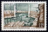 Postage Stamp France 1957 Pont De Recouvrance, Brest